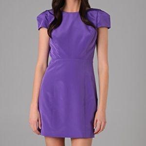 Tibi Purple Cap Sleeve Cocktail Dress Sz 4 EUC!